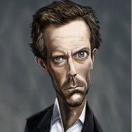Caricatura do Dr House